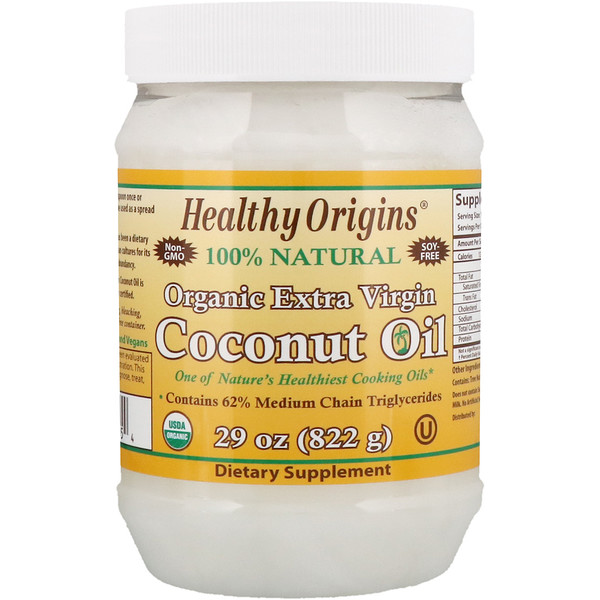 Healthy Origins, Organic Extra Virgin Coconut Oil, 29 oz (822 g)