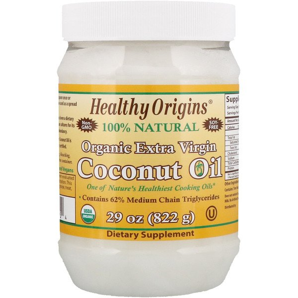:Healthy Origins, Organic Extra Virgin Coconut Oil, 29 oz (822 g)