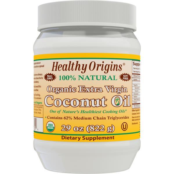Healthy Origins, Органическое Кокосовое Масло Extra Virgin, 29 унций (822 г)