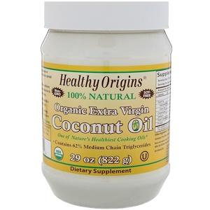 Healthy Origins, Органическое Кокосовое Масло Extra Virgin, 29 унций (822 г) инструкция, применение, состав, противопоказания