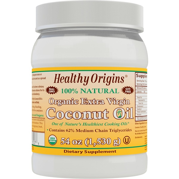 Healthy Origins, Organic Extra Virgin Coconut Oil, 54 oz (1,530 g)