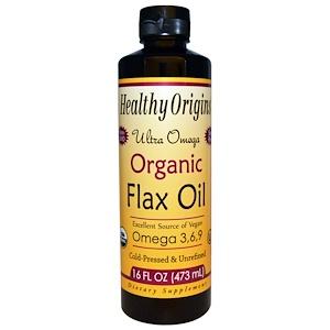 Healthy Origins, Натуральное льняное масло, Ультра омега, 16 жидких унций (473 мл) инструкция, применение, состав, противопоказания