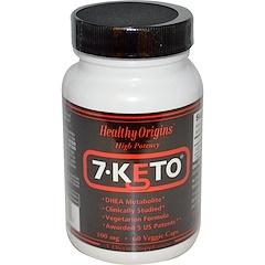 Healthy Origins, 7-Keto, 100 mg, 60 gélules végétales