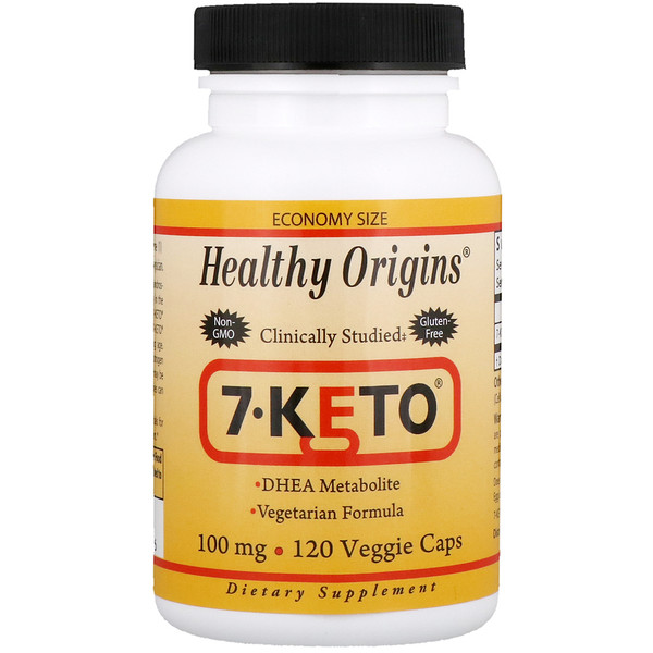 Healthy Origins, 7-Keto, 100 mg, 120 Veggie Caps