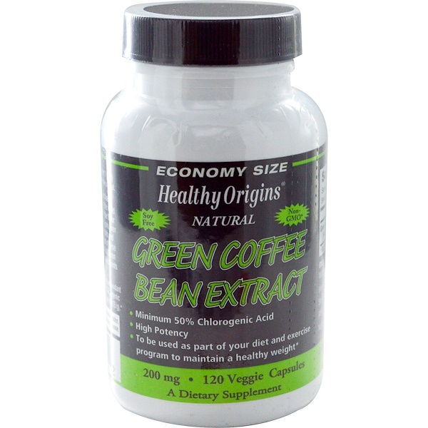 Healthy Origins, Green Coffee Bean Extract, 200 mg, 120 Veggie Caps (Discontinued Item)