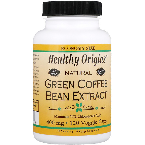 Healthy Origins, Green Coffee Bean Extract, 400 mg, 120 Veggie Capsules (Discontinued Item)