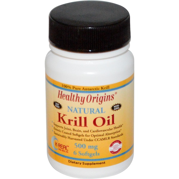 Healthy Origins, Krill Oil, 500 mg, 6 Softgels (Discontinued Item)