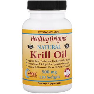 Healthy Origins, Krill Oil, Natural Vanilla Flavor, 500 mg, 120 Softgels