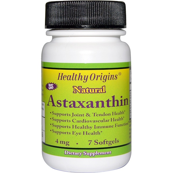 Healthy Origins, Астаксантин, 4 мг, 7 гелевых капсул (Discontinued Item)
