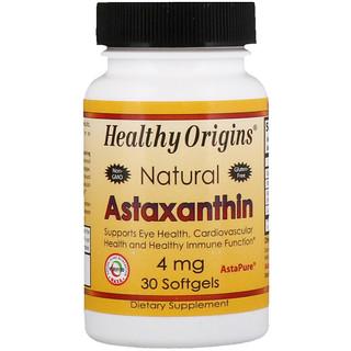 Healthy Origins, Astaxanthin, 4 mg, 30 Softgels