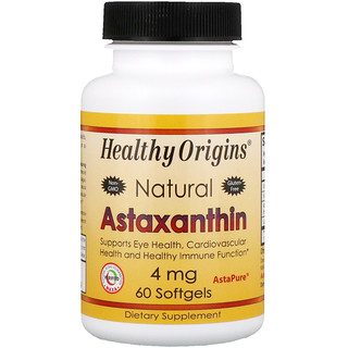 Healthy Origins, Astaxanthin, 4 mg, 60 Softgels