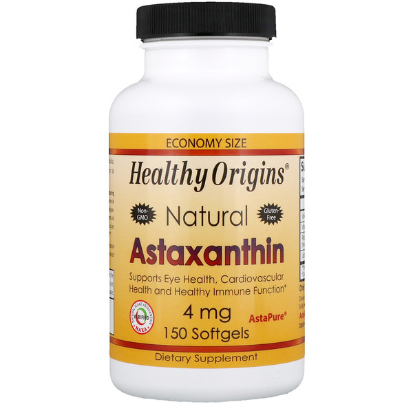 Healthy Origins, Astaxanthin, 4 mg, 150 Softgels