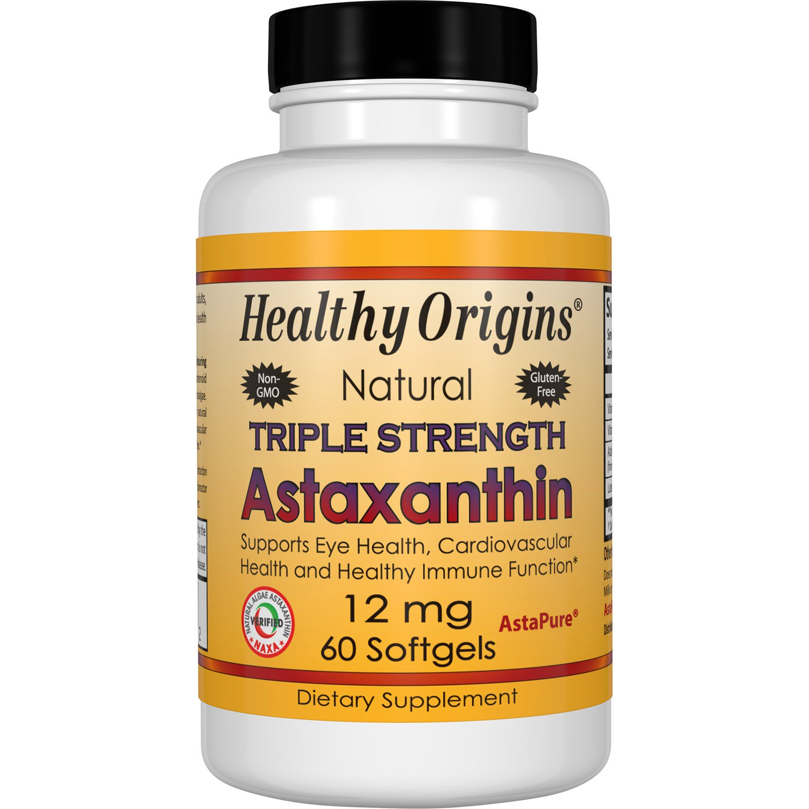 Healthy Origins, Астаксантин тройного действия, 12 мг, 60 капсул