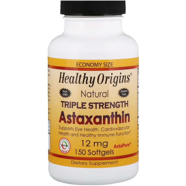 Healthy Origins, Triple Strength Astaxanthin, 12 mg, 150 Softgels