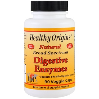 Healthy Origins, Digestive Enzymes, Broad Spectrum, 90 Veggie Caps