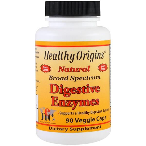 Healthy Origins, Digestive Enzymes, Broad Spectrum, 90 Veggie Caps