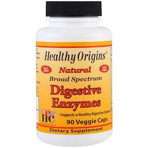 Healthy Origins, Пищеварительные ферменты широкого спектра, 90 вегетарианских капсул инструкция, применение, состав, противопоказания