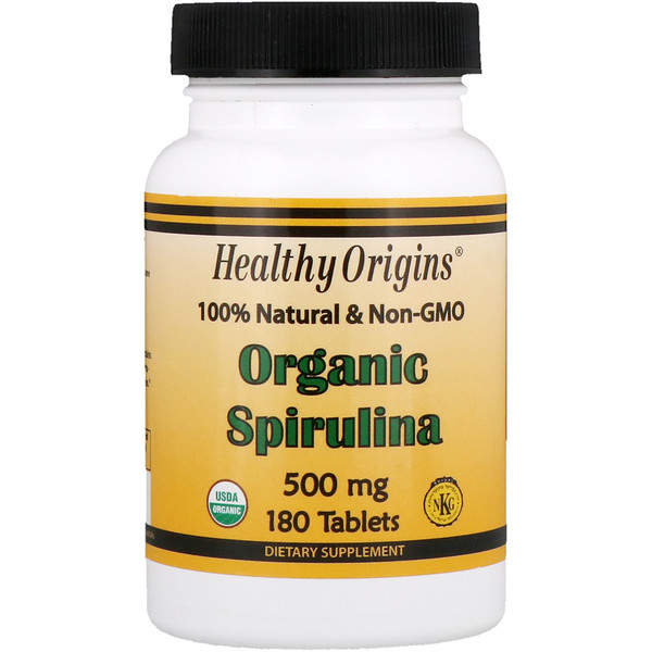 Healthy Origins, Organic Spirulina, 500 mg, 180 Tablets (Discontinued Item)