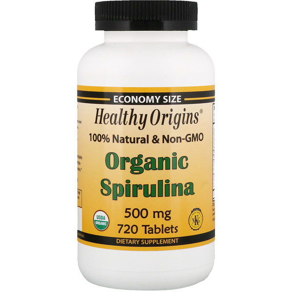 Healthy Origins, Organic Spirulina, 500 mg, 720 Tablets
