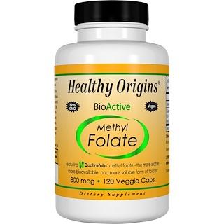 Healthy Origins, Methyl Folate 800 MCG, 120 Veggie Caps
