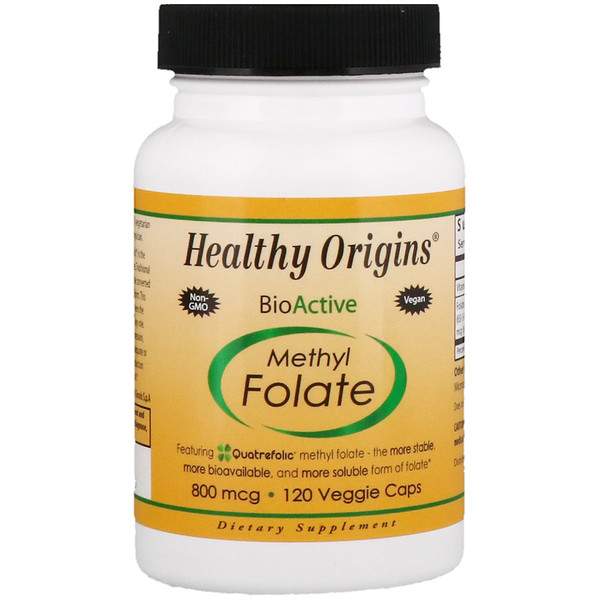 Healthy Origins, Methyl Folate, 800 mcg, 120 Veggie Caps (Discontinued Item)
