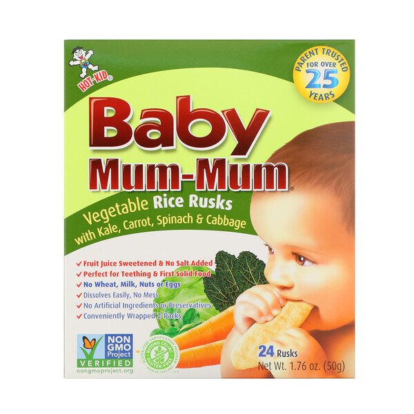 Baby Mum-Mum, Vegetable Rice Rusks, 24 Rusks