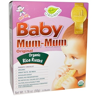 Hot Kid, Baby Mum-Mum, Organic Rice Rusks, Original, 24 Rusks, 1.76 oz (50 g)