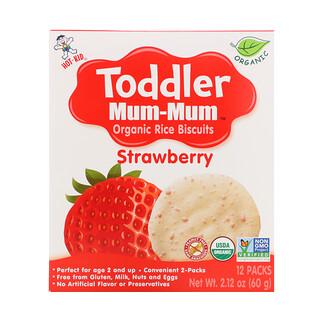 Hot Kid, TodDLer Mum-Mum,有機米餅,草莓,12 包,2.12 盎司(60 克)