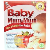 Baby Mum-Mum, рисовые галеты с яблоком и тыквой, 24 сухарика, 1,76 унции (50 г) - фото