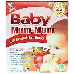 Hot Kid, Baby Mum-Mum, galletas de arroz originales con manzana y calabaza, 24 galletas, 1.76 oz (50 g)
