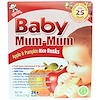 Hot Kid, Baby Mum-Mum, galletas de arroz originales con manzana y calabaza, 24 galletas, 1.76 oz (50 g)