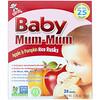 Hot Kid, Baby Mum-Mum, צנימי תפוח עץ ואורז דלעת, 24 צנימים, 50 גר' (1.76 oz)