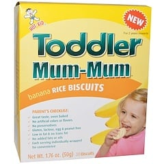 Hot Kid, Toddler Mum-Mum, Banana Rice Biscuits, 20 Biscuits, 1.76 oz (50 g)