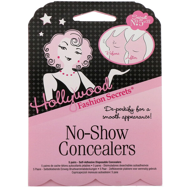 No-Show Concealers, 5 Pairs