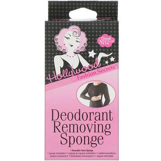 Hollywood Fashion Secrets, Deodorant Removing Sponge, 1 Sponge