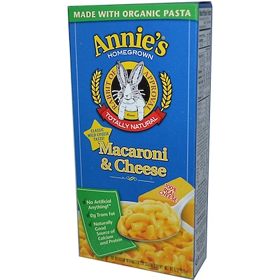 Купить Annie's Homegrown Макароны с сыром, 6 унций (170 г)