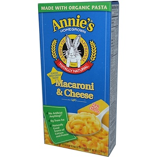 Annie's Homegrown, Macaroni & Cheese, Classic Mild Cheese, 6 oz (170 g)