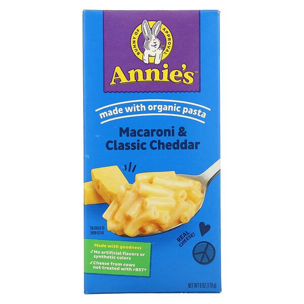 Annie's Homegrown, Macaroni & Cheese, Classic Mild Cheese, 6 oz (170 g)