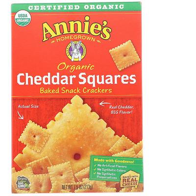 Купить Organic Cheddar Squares, Baked Snack Crackers, 7.5 oz (213 g)