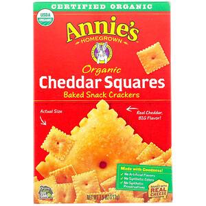 Аннис Хоумгроун, Organic Cheddar Squares, Baked Snack Crackers, 7.5 oz (213 g) отзывы