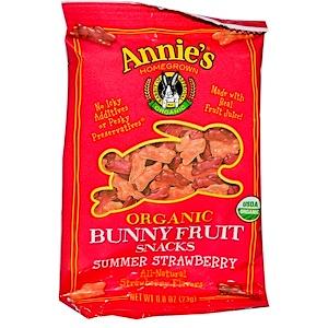 Аннис Хоумгроун, Organic Bunny Fruit Snacks, Summer Strawberry, 0.8 oz (23 g) отзывы покупателей