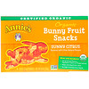 Annie's Homegrown, Organic Bunny Fruit Snacks, Sunny Citrus, 5 Pouches, 0.8 oz (23 g) Each