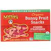 Annie's Homegrown, وجبات Bunny السريعة من الفاكهة العضوية، فراولة صيفية، 4 أونصة (115 غ)