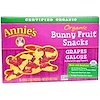 Annie's Homegrown, Organic Bunny Fruit Snacks, Grapes Galore, 5 Pouches, 0.8 oz (23 g) Each