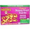 Annie's Homegrown, وجبات خفيفة عضوية من الفواكه، العنب، 5 حقائب، 0.8 أوقية (23 غ) لكل