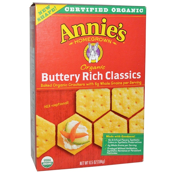 Annie's Homegrown, Organic Buttery Rich Classics, 6.5 oz (184 g) (Discontinued Item)