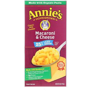 Аннис Хоумгроун, Macaroni & Cheese, Classic Mild Cheddar, Less Sodium, 6 oz (170 g) отзывы покупателей