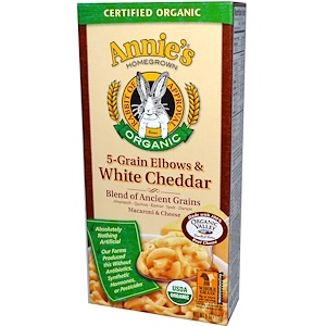 Аннис Хоумгроун, Macaroni & Cheese, 5-Grain Elbows & White Cheddar, Organic, 6 oz (170 g) отзывы покупателей