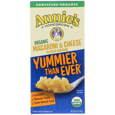 Annie's Homegrown Organic Macaroni & Cheese, Classic Cheddar, 6 oz (170 g)