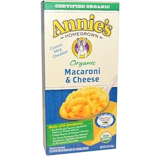Annie's Homegrown, Macaroni & Cheese, Classic Mild Cheddar, Organic, 6 oz (170 g)